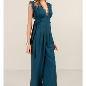 Francesca's Collections Pants - Francesca's Emerald Jumpsuit